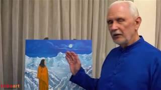 "Nayaswami Jyotish talks about his painting ""Guru Purnima"""