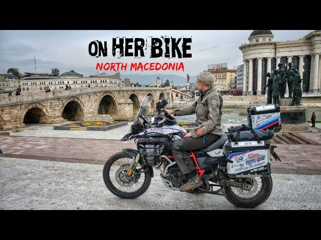 North Macedonia. On Her Bike Around the World. Episode 34