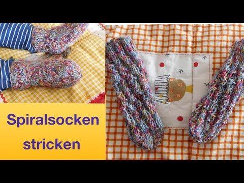 Youtube-Tutorial: Spiralsocken stricken | Socken ohne Ferse stricken
