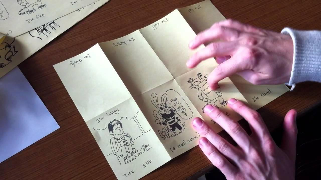 How to Make a Mini Comic Book by Jim McGee - YouTube