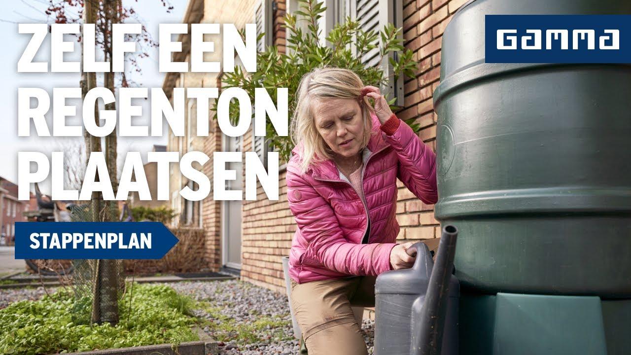 Waterafvoer Tuin Gamma : Regenton plaatsen tuinaanleg gamma belgië youtube
