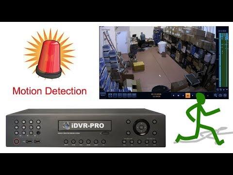 Surveillance DVR Security Camera Motion Detection Recording Setup