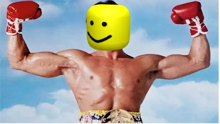 Rocky Fight but every punch is the Roblox death sound