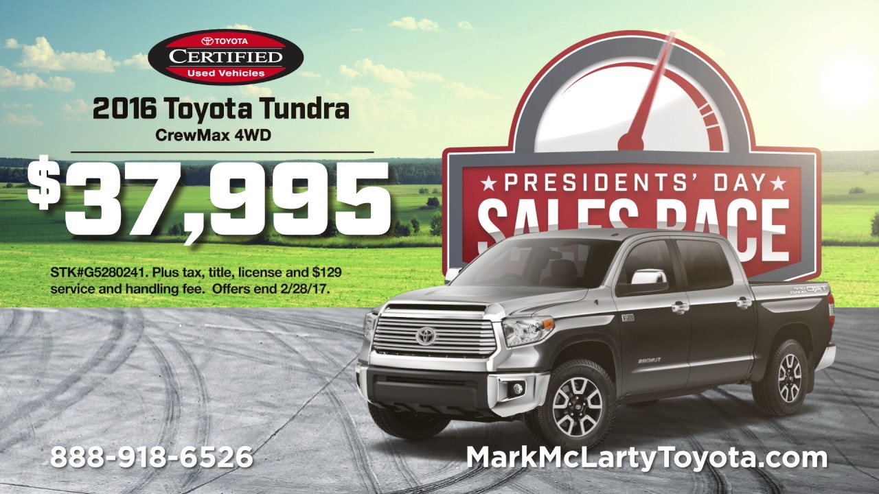 Mark Mclarty Toyota >> Mark McLarty Toyota - Presidents Day Sale - 4Runner - YouTube