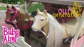 BABY ALIVE Introducing Our Generation Horses & Stable!