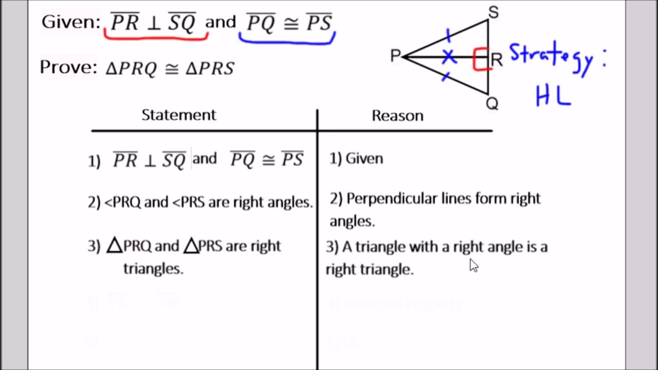 hl triangle proof avoiding common mistakes  geometry