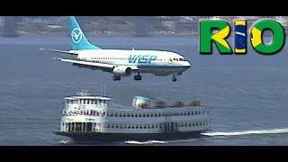 VASP 737-300 Landing at Santos Dumont Airport (1999)