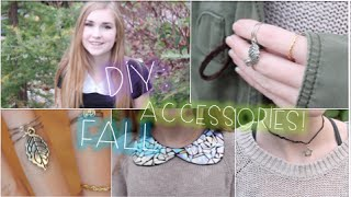 DIY Fall Accessories ♡ Peter Pan Collar, Midi Rings & Choker! Thumbnail