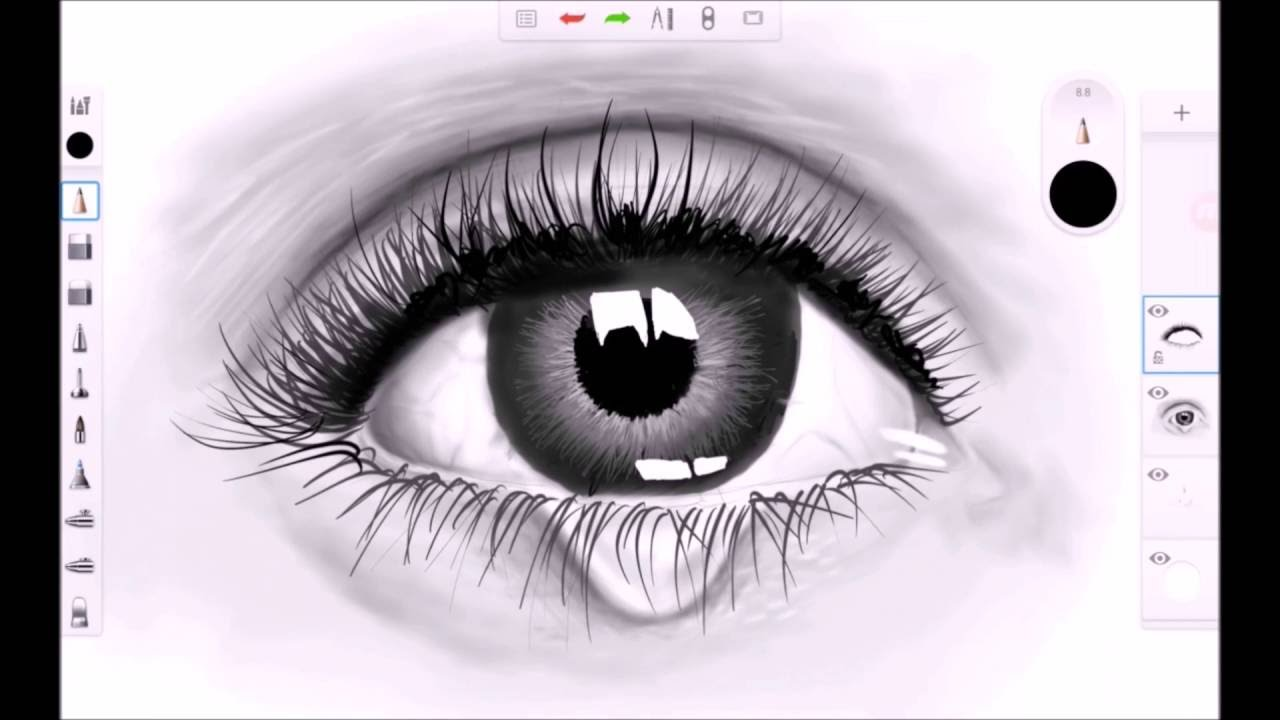 Best Software For Drawing Smooth Lines : Realistic eye speed drawing sketchbook pro for android