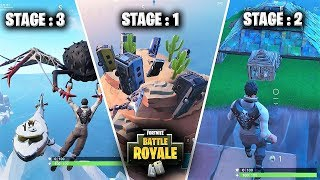 Fortnite Season 7 Battle Pass Challenges : Dance on top of a crown of RV's ,metal turtle ,submarine