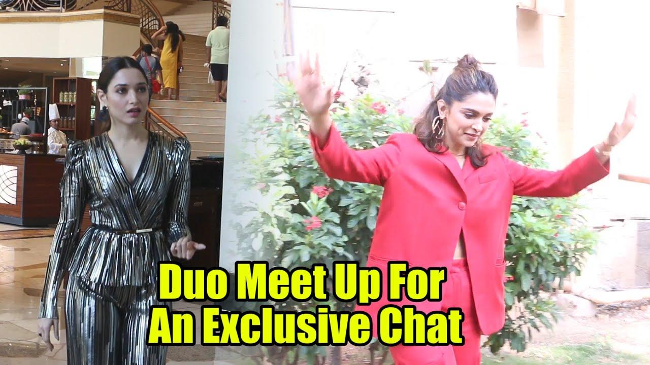 Tamannaah Bhatia And Deepika Padukone Meet Up For An Exclusive Chat