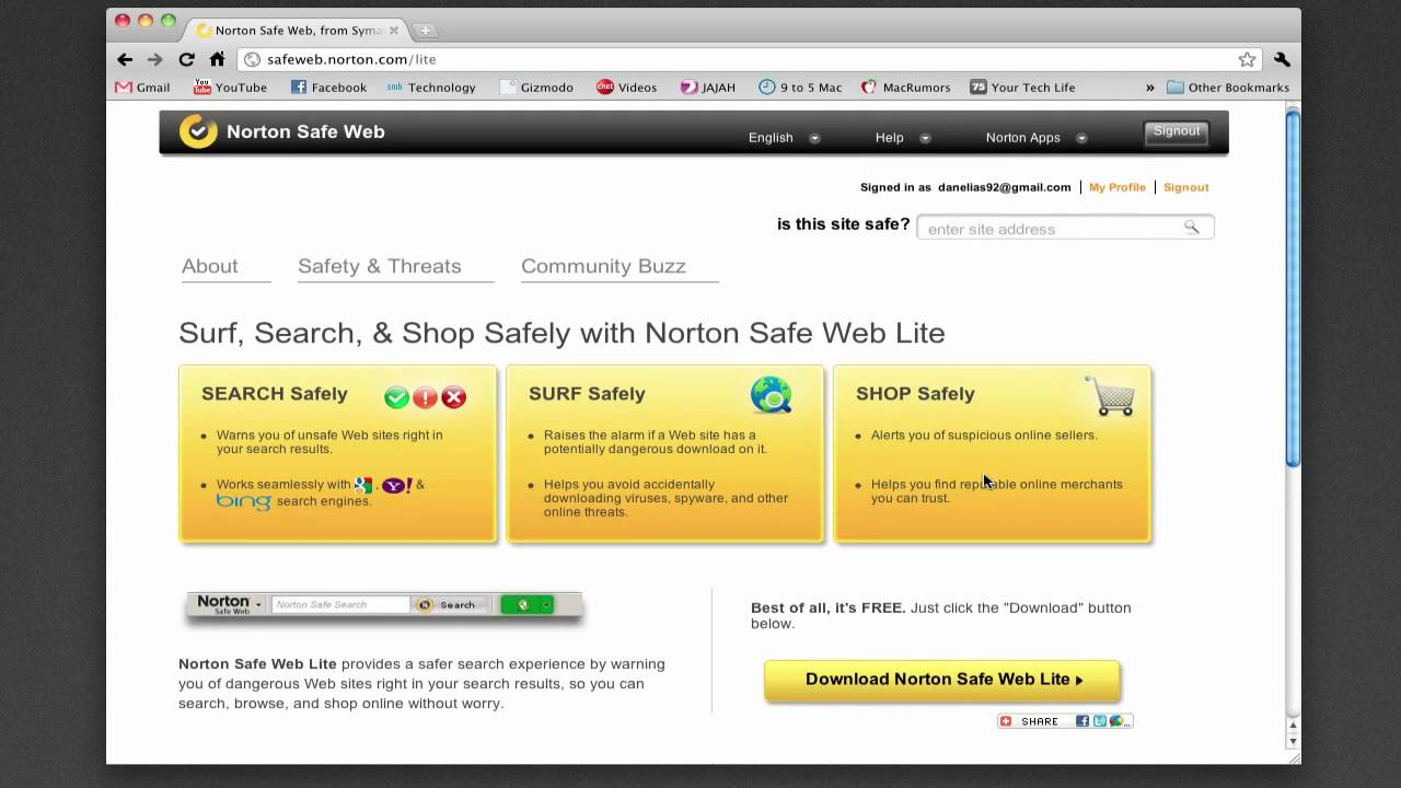 Norton Safe Web - YouTube