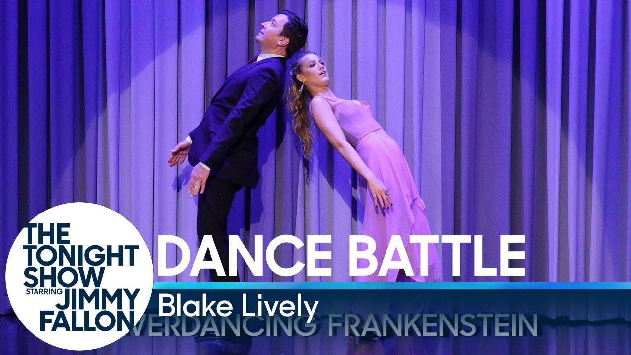 """Двобој во """"танцување"""" помеѓу Блејк Лајвли и Џими Фалон"""