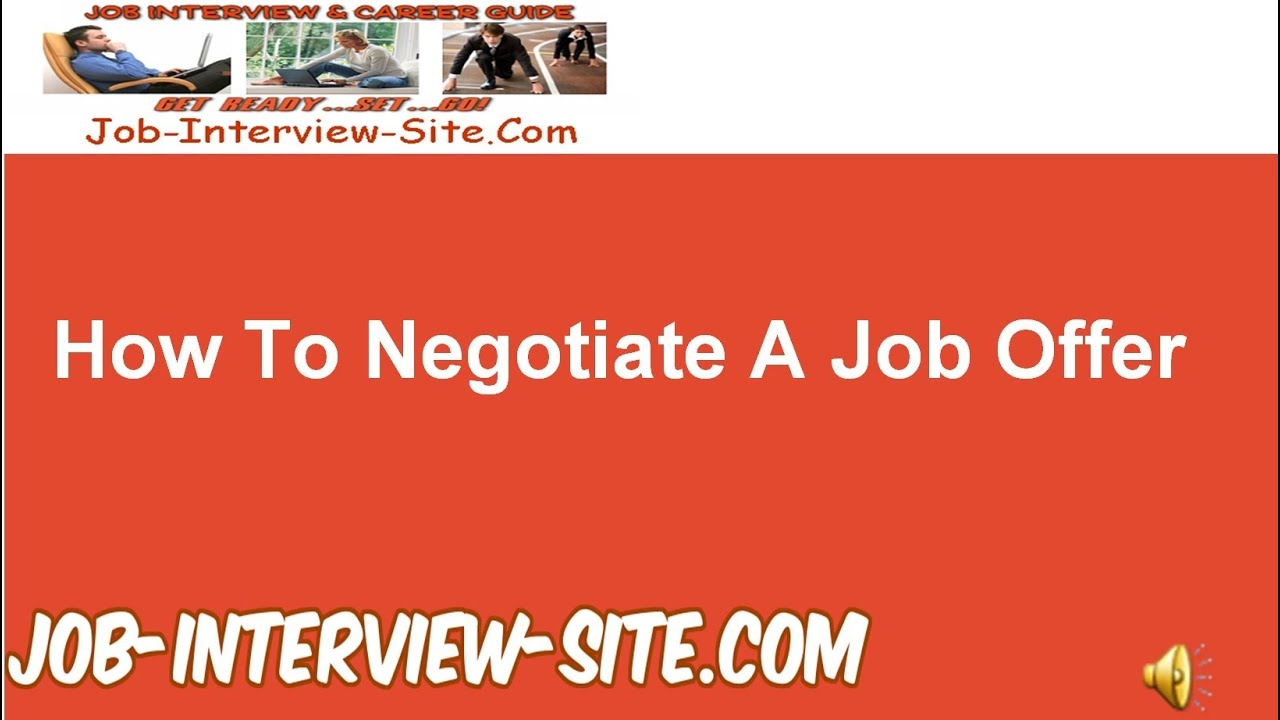 negotiate salary new job negotiating your salary nothing to be ...