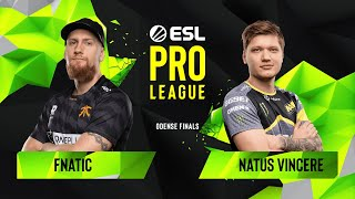 CS:GO - Fnatic vs. Natus Vincere [Overpass] Map 3 - Semifinals - ESL Pro League Season 10 Finals