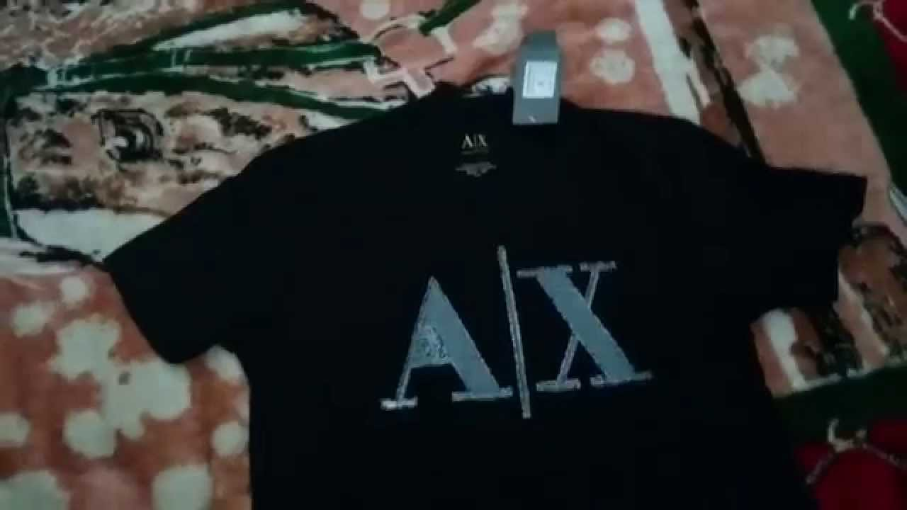 e9363076367 Unboxing Camiseta Armani Exchange - Aliexpress - YouTube