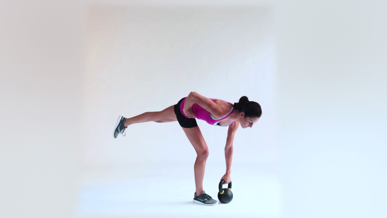 single leg rdl form  One Kettlebell Single Leg Deadlift