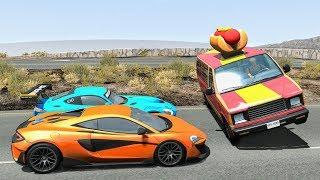 Street Racing Crashes #11 - BeamNG Drive | CrashBoomPunk