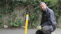 How to install a fold down parking post onto a Tarmac surface.