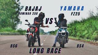 Yamaha FZ25 Bs4 Vs Bajaj Dominar250 bs6 Amazing Battle | Baspan ka Pyar🤣 | Ksc Vlog