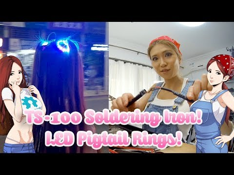 TS-100 Soldering Iron & LED Pigtail Rings