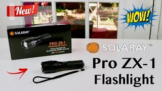 😍 SOLARAY PRO ZX-1 Professional  Series Tactical Flashlight Kit - Review ✅