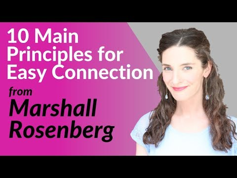 NONVIOLENT COMMUNICATION - MARSHALL ROSENBERG - SUMMARY SAN FRANCISCO WORKSHOP (in 10 Principles)