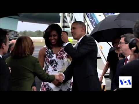 Obama Arrives in Cuba