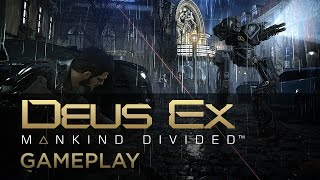 Hacking and Attacking Gameplay - Deus Ex: Mankind Divided