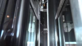 Global Tardif Z3 Series Glass MRL Traction Elevator at N. T. C. Parking Garage
