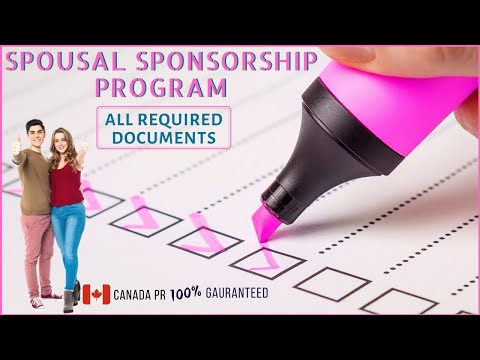 Canada Spousal Sponsorship Program - Required Documents