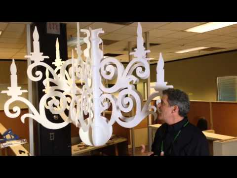 Making Paper Chandeliers