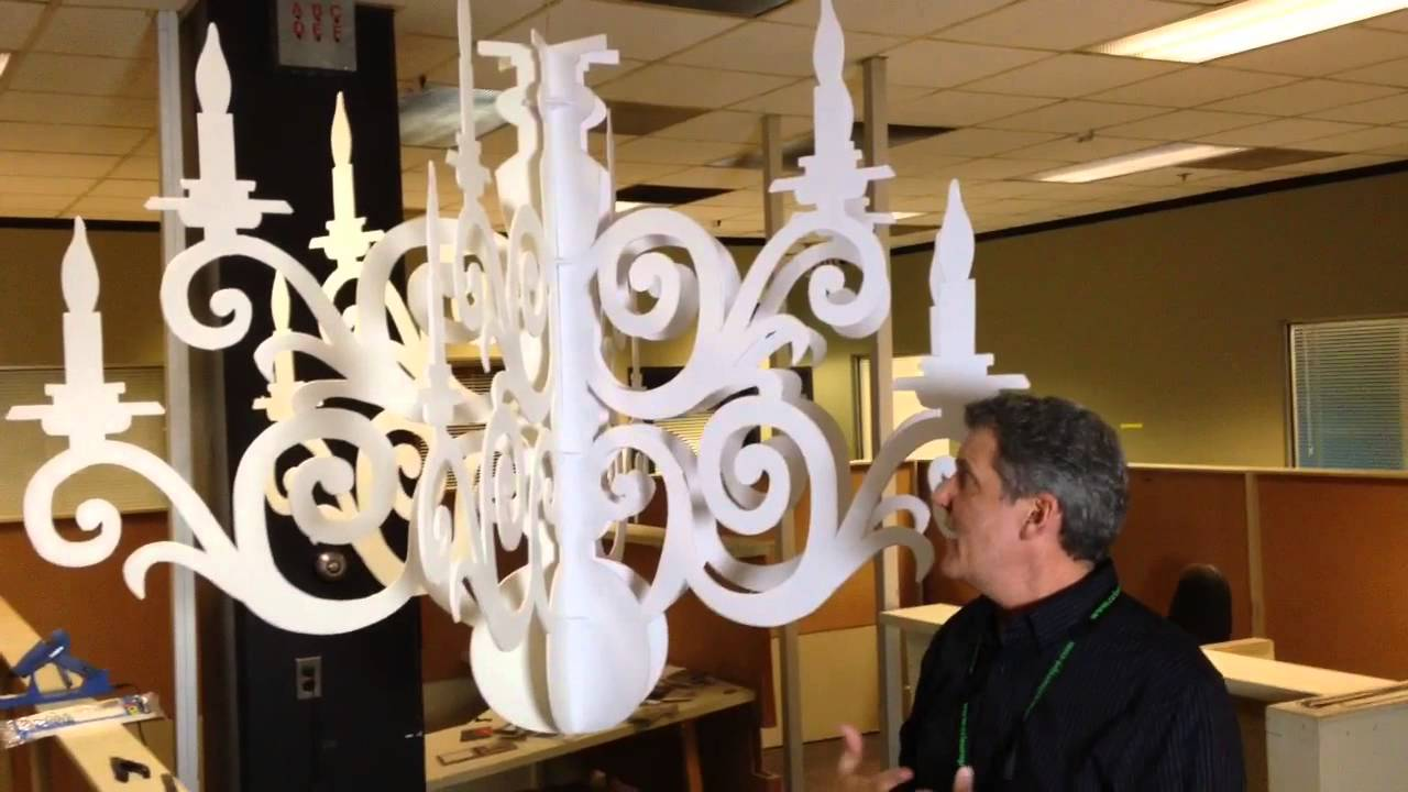 Making paper chandeliers youtube arubaitofo Gallery