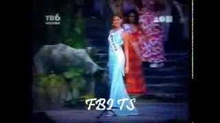 Blanca Soto en Miss Mundo 1997