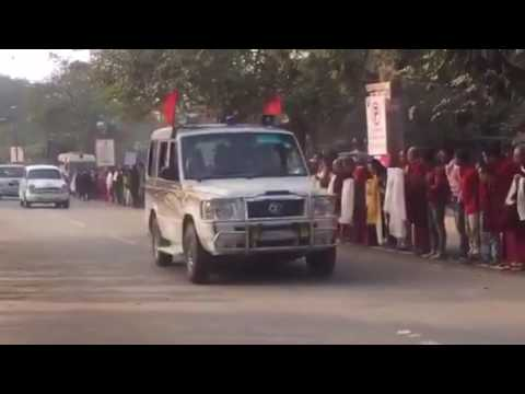 His Holiness the 14th Dalai Lama just arrived in Body Gaya India