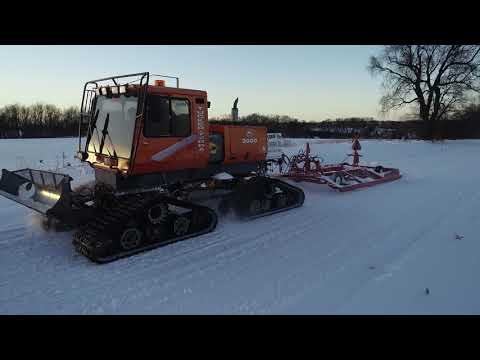 Grooming Snowmobile Trails In Wisconsin