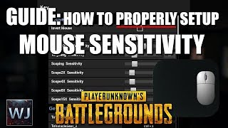 GUIDE: How to PROPERLY setup your mouse sensitivity (Ep1) - PLAYERUNKNOWN'S BATTLEGROUNDS