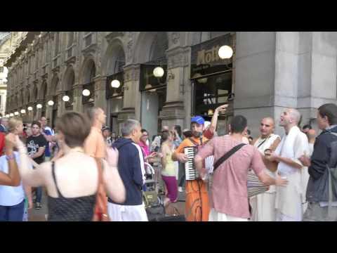 Harinama Yatra Nitay Gauranga ITALIA - MILAN 6 July