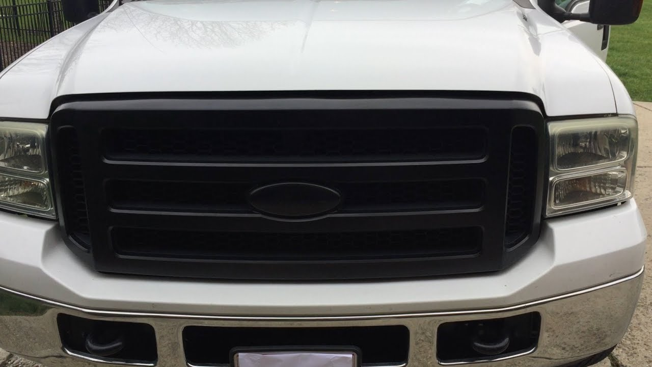 Installing A Grill Insert Overlay On A Ford F 250 Youtube