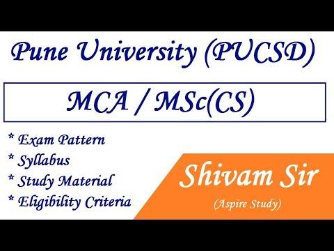 Pune University (PUCSD) MCA / MSc(CS) Notifications 2018-