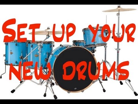 How To Assemble A Junior Drum Set Youtube