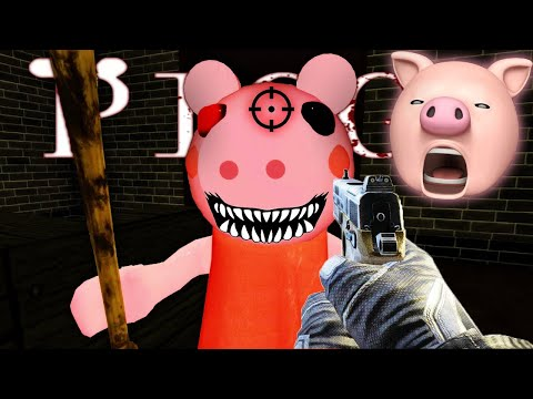 I SHOT PEPPA PIG + ESCAPED!! | Roblox Piggy (Horror Game)