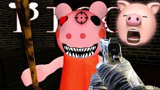 I SHOT PEPPA PIG + ESCAPED!! | Roblox Piggy (Horror Game)