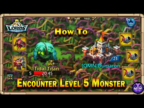 Lords Mobile | How Much Energy It Takes To Kill Lv5 Monster | Lv5 Tidal Titan!