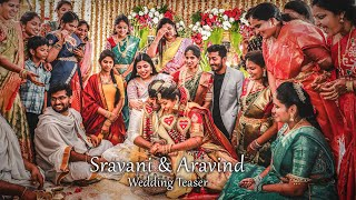 Cinematic Wedding Teaser 2020 || Sravani & Aravind  || A Film By V-Stories || Vizag || India