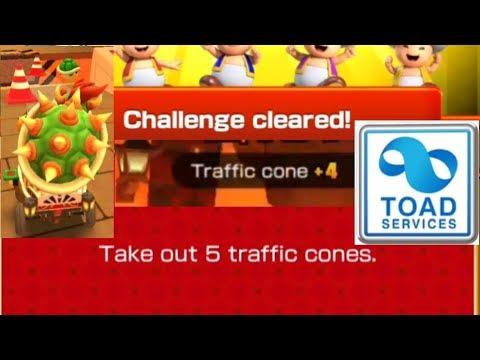 Take Out 5 Traffic Cones Mario Kart Tour Youtube