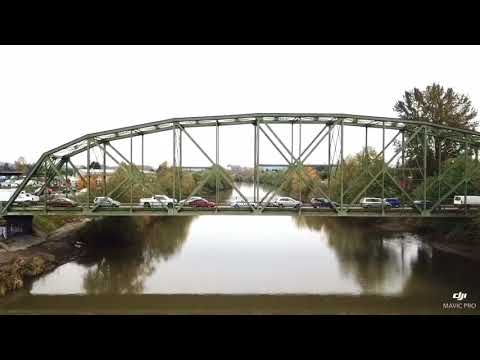 Puyallup WA river by Drone