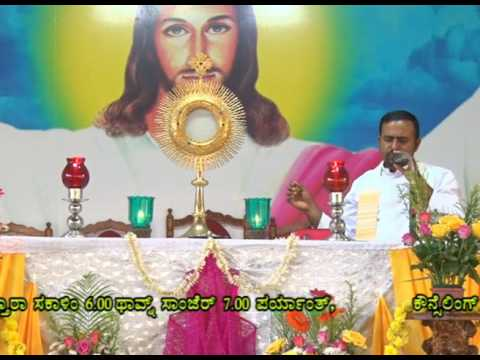 Holy Eucharistic Adoration by Fr.Francline, at Divine Call Centre Mulki