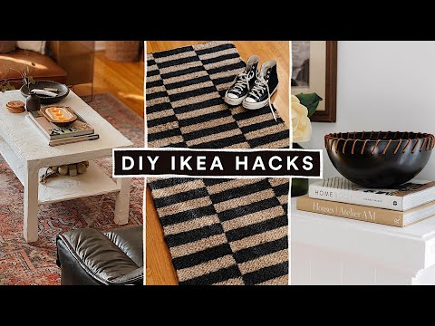DIY IKEA HACKS - Affordable DIY Room Decor + $50 Plaster Coffee Table!