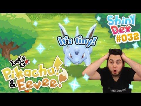 EPIC SHINY NIDORAN in POKEMON LETS GO PIKACHU AND EEVEE!